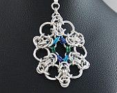 Byzantine Ocean Flower Pendant