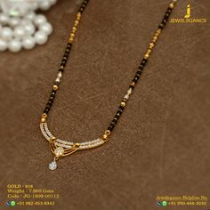 Gold 916 Premium Design Get in touch with us on Gold Mangalsutra Designs, Gold Earrings Designs, Gold Jewellery Design, Necklace Designs, Long Pearl Necklaces, Gold Necklace, Pendant Necklace, Gold Jewelry Simple, Gold Bangles