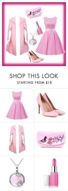 """""""Untitled #5"""" by enigmavera ❤ liked on Polyvore featuring Gianvito Rossi, Pauline Trigère, Amour, Clinique and graduationdaydress"""