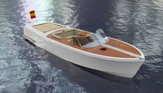 The above image shows the optional color (metalic white) that the designer has chosen to maintain the exquisit charateristis of the Elite 40. The choosen color, metalic white, suits perfectly the design creating a even more refined luxury yacht with an incredible combination between mahogany woods and beige leathers.
