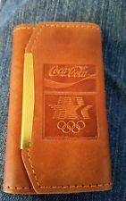 Coca Cola Olympic folding leather key holder