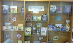 Display of books purchased from Usborne Books with grant from Lower Pearl River Valley Foundation.