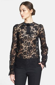 Dolce & Gabbana Bow Collar Lace Blouse available at #Nordstrom