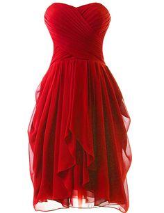 Dress U Womens Ruched Bridesmaid Dress Short Prom Dresses | Amazon.com