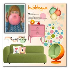 """""""bubblegum"""" by limass ❤ liked on Polyvore featuring interior, interiors, interior design, home, home decor, interior decorating, Safavieh, Redford House, Jim Marvin and Koziol"""