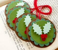 Etiquetas de navidad, para tus regalos o como decoración del arbol.