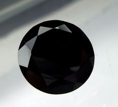 12 MM Natural Black Spinel Faceted Round Shape Cut Stone Loose Gemstone #Unbranded