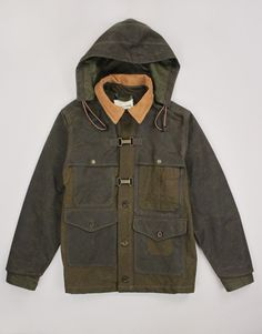 Filson+x+Nigel+Cabourn+Work+Cape+Jacket+-+Rustic/Forest+Green