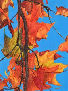 "KAREN CEOLLA TYLEC ""Shadow Play I"" Watercolor on Panel, 16"" x 22"""