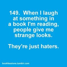 Bookfessions. I do this all the time. Then I realize people are watching and I shouldn't have this big of a smile on my face.