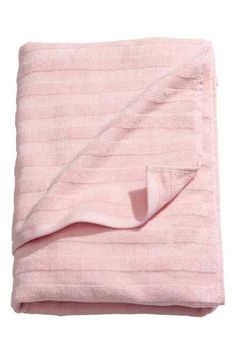 Shower towel: Shower towel in thick cotton terry with a woven textured stripe. Hanger on the short sides.