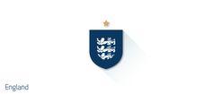 England FIFA 2014 World Cup Team Logo Flat Design Logos: 2014 FIFA World Cup Team Logos