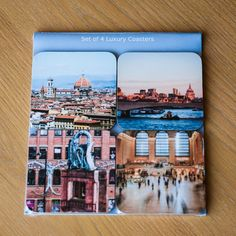 Drinks Coasters Set of 4 Travel Photography Manchester by EmmycPhotography. Available on Etsy