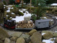 Garden RR in winter Garden Railroad, Scale Models, Fairies, Empire, Backyard, Layout, Winter, Outdoor, Faeries