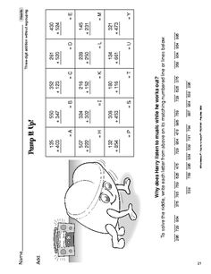 Math Worksheet: 3-digit addition without regrouping