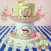 Image of Vintage Love Cup & saucer set!