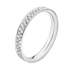 via Georg Jensen MAGIC ring - 18 ct. white gold with pavé set brilliants by Reitze Overgaard