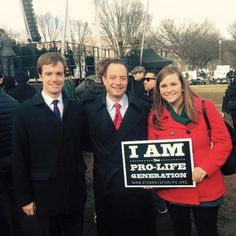 Pictured is Eagle Forum Legislative Director Kevin Baird, RNC Chairman Reince Priebus, and Eagle Forum Executive Director Glyn Wright at the 2015 March for Life.