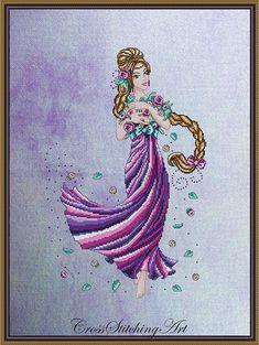 Rapunzel by Cross Stitching Art