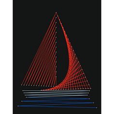 Free Boat String Art Pattern. Maybe could do for a Fathers Day Card or Gift?