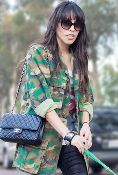 Camo & Chanel = absolutely <3