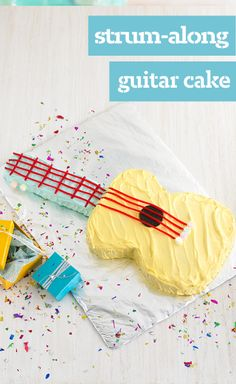 Strum-Along Guitar Cake