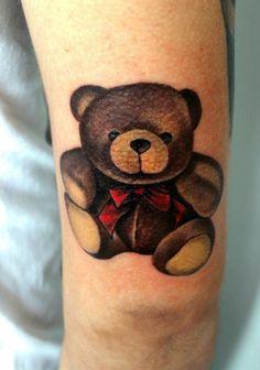 Teddy Bear Tattoo, unknown artist