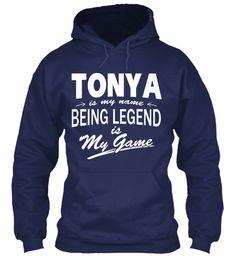 Tonya Name, Legend Game Navy Sweatshirt Front