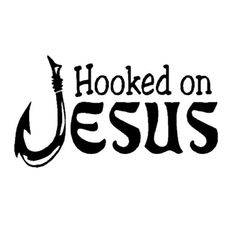 Hooked On Jesus Christian Fishing Car Decal 2012 Jeep, Car Decals, Life Changing, Fishing, Christian, Memories, Memoirs, Souvenirs, Car Decal
