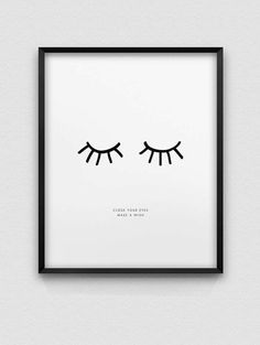 printable inspirational home decor // instant download print // black and white dream print // nordic style print // make a wish