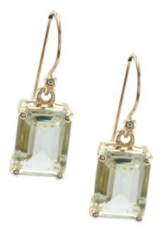 6ee71a15a fine Green Amethyst 925 Sterling Silver Rose Gold Green Earring jewellery US