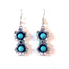 Turquoise Flower Earrings, $7 | Fashion Silver | Light Years Jewelry – Light Years