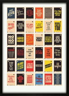 Movie Quotes Alphabet A to Z Print from 67 Inc.