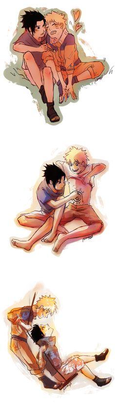 Innocent love Sasunaru, Naruko Uzumaki, Naruto Shippuden Sasuke, Narusasu, Naruto And Sasuke Kiss, Naruto Cute, Naruto Funny, Sakura And Sasuke, Gaara