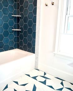 Every bathroom remodel begins with a style idea. From complete master bathroom renovations, smaller sized visitor bath remodels, and bathroom remodels of all dimensions. Bad Inspiration, Bathroom Inspiration, Bathroom Ideas, Bathroom Showers, Bathroom Colors, Bathroom Organization, Bathroom Storage, Colorful Bathroom, Diy Shower