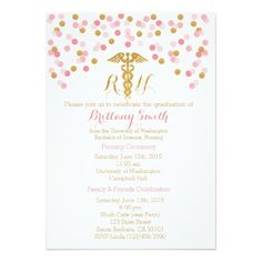 Nurse Graduation Invitation Nursing School Grad Announcement Graduation parties Nursing