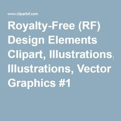 Royalty-Free (RF) Design Elements Clipart, Illustrations, Vector Graphics #1