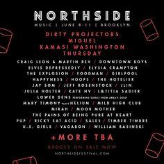 Northside Festival Line Up 2017