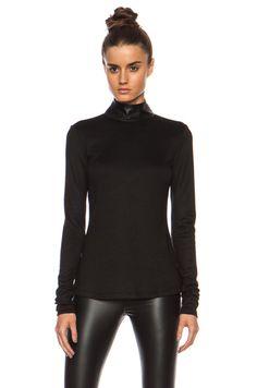 BLK DNM|Wool-Blend Shirt 72 in Black