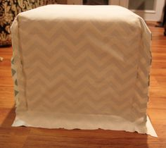 Diy cube ottoman slipcover pinterest ottoman slipcover cube and cube cover diy may need to recover the stained ones solutioingenieria Images