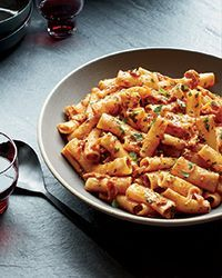 Mario Batali doesn't mess around with his Amatriciana, which is perfectly spicy and porky, with plenty of rich tomato flavor.  Slideshow: More Mario Batali Recipes