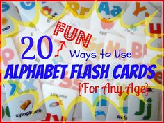 Reading Confetti: 20 Fun Ways to Use Alphabet Flash Cards {for any age}