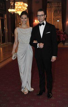 Crown Princess Victoria and Prince Daniel at the Pre-Wedding Dinner for Princess Madeleine and Chris O'Neill.