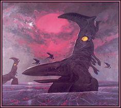 "Extrasolar concept art - ""Emperor Sea Striders"" of Darwin IV by Wayne Barlowe. British Library, Fantasy Kunst, Fantasy Art, Wayne Barlowe, Sci Fi Kunst, Les Aliens, Arte Sci Fi, 70s Sci Fi Art, Alien Concept Art"