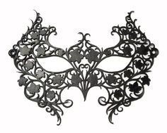 Black Leather Lace Mask - Poison Ivy Costume. $59.00, via Etsy.