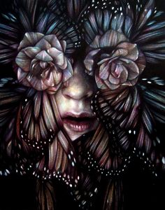"""""""Love Is Paranoid"""" 2012, colored pencils on paper, cm 28x22 - Marco Mazzoni"""