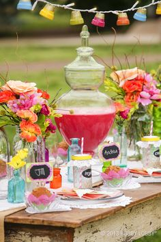 The perfect additions for your next backyard party! I love the apothecary jar for the punch bowl! Grad Parties, Summer Parties, Holiday Parties, Birthday Parties, Backyard Parties, Party Like Its 1999, Spring Party, Vintage Party, Party Snacks