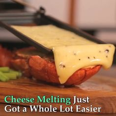 Oak Cheese Raclette is part of Cheese Combine The Senses For A Unique Taste With Every Meal! This beautifully designed Raclette allows you to melt your favorite cheeses over any meal to deliver maxi - Cooking Gadgets, Cooking Tools, Cooking Recipes, Keto Recipes, Cool Kitchen Gadgets, Cool Kitchens, Good Food, Yummy Food, Food Truck