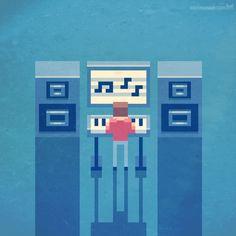 MATRIXSYNTH: Retro Synth Pixel Art by Metin Seven