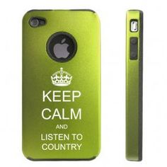 Apple iPhone 4 4S Green D7396 Aluminum & Silicone Case Cover Keep Calm and Listen To Country by MIP INC, http://www.amazon.com/dp/B009MEQTL4/ref=cm_sw_r_pi_dp_WbR0qb1TMMRY2